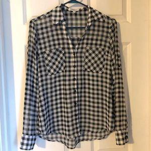 EXPRESS Gingham Check Portofino Shirt